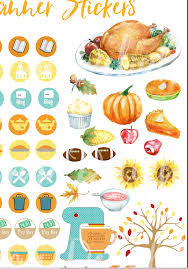 thanksgiving food printables free planner stickers u0026 new thanksgiving bundle biblejournallove com