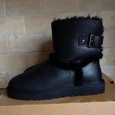 womens ugg bomber boots ugg australia airehart black bomber twinface sheepskin boots size