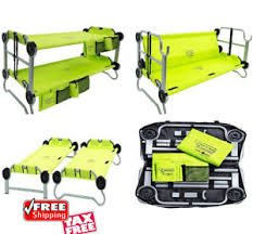 Portable Bunk Beds Cing Portable Bunk Bed Adjustable Folding Durable Cot Bench