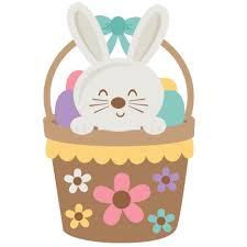 bunny basket easter bunny in basket svg scrapbook cut file clipart files
