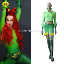 Green Ivy Halloween Costume 2014 Sale Batman Robin Poison Ivy Cosplay Costumes