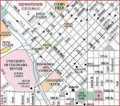 road map of denver center denver colorado aaccessmaps