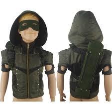 Hoodie Halloween Costumes Kids Boys Green Arrow Season 4 Oliver Queen Coat Jacket Hoodie