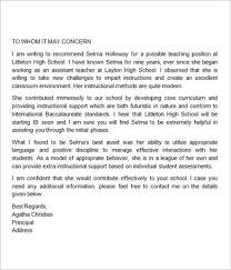 bunch ideas of recommendation letter for teaching position example