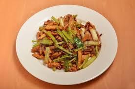 cuisine revue s hakka traditional cuisine stir fried pork celery stock