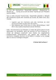 statut chambre de commerce ag de l union nationale des chambres de commerce d industrie et d