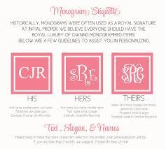 initial monograms monogram etiquette