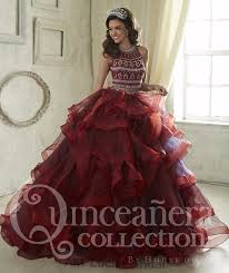 burgundy quince dresses seductive beading ruffles burgundy 2 two pieces quinceanera