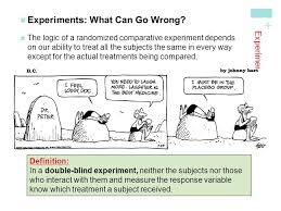 Define Single Blind Experiment Experiments How To Experiment Well The Randomizedcomparative