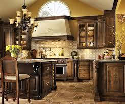 Kitchen Cherry Cabinets U Shaped Kitchen Design With Cherry Cabinets Decora