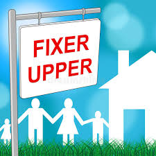 fixer upper meaning fixer upper house shows buy to sell and advertisement stock