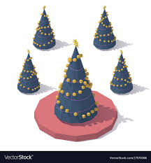 polytree christmas trees lights not working isometric low poly christmas tree royalty free vector image