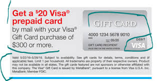 gift card purchase online may 22 28 20 visa gift card via ezrebate with 300 prepaid visa