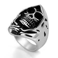 steel skull rings images Jewelrywe retro stainless steel biker mens gothic skull ring jpg