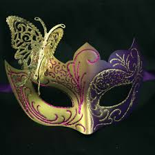 purple masquerade mask purple and gold butterfly venetian mask masquerade masks shop