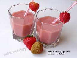 lychee juice strawberry lychee summer drink eating well diary