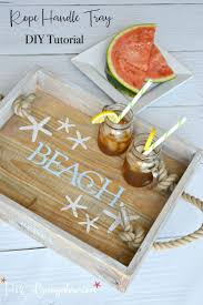2830 best images about inspiring diy decor more on pinterest diy coastal rope handle tray tutorial
