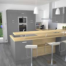 plan de travail sur pied cuisine cuisine grise moderne faa ade stecia 2017 et plan de travail sur