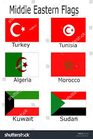 Old Sudan Flag Middle Eastern Flags Turkey Tunisia Algeria Stock Vector 282743