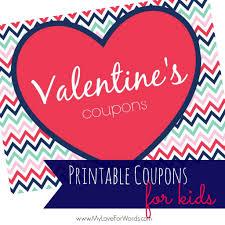 printable valentine u0027s coupons for kids