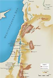 Negev Desert Map Humans In The Levant