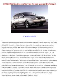 2002 2006 kia carens service repair manual do by deborahcarrion