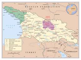 Political Map Of South Asia by Maps Of South Ossetia Detailed Map Of South Ossetia In English