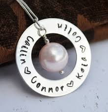 mothers day jewelry personalized personalized necklace personalized family pearl necklace