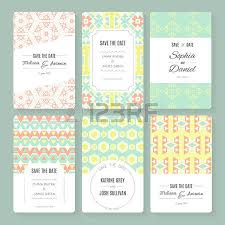 set of perfect vector card templates ideal for save the date