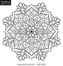 mandala vector floral flower oriental coloring book outline