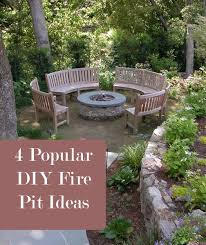 Diy Fire Pit Patio by 39 Best Firepit Designs Images On Pinterest Landscaping Ideas