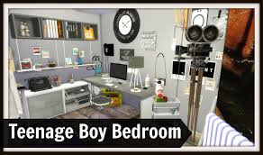 Teen Boy Bedroom by Sims 4 Teenage Boys Room Dinha