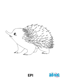 epi the hedgehog from robinson crusoe coloring pages hellokids com