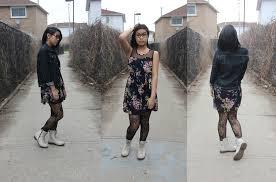 jae ehm gap vintage denim jacket vintage floral mesh dress