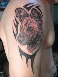 african wild dog tattoo designs wildlife tattoos ideas