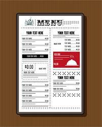 restaurant menu template classical black white design free vector