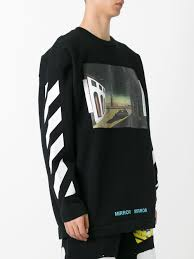 off white printed sweatshirt black multicolor men clothing