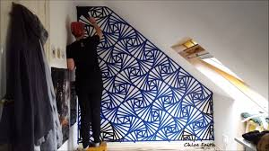 Wall Paintings Designs by Geometric Wall Art Paint Chloe Faith Youtube