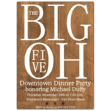 big five oh wooden plank photo birthday invitation paperstyle