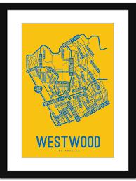 Map De Los Angeles by Westwood Los Angeles Street Map Print Street Posters