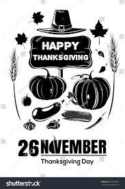 symbols thanksgiving day pumpkin ears wheat stock vector 342494798