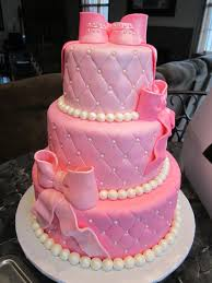 mymonicakes pink u0026 pearls baby shower cake