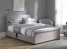 wilson silver fabric ottoman bed frame dreams