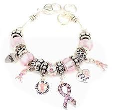 pandora beaded bracelet images Pandora style breast cancer awareness bracelet pink jpg