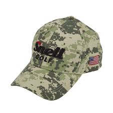 American Flag Visor Camo Hat With American Flag Snell Golf