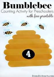 math game preschool insect theme counting activities