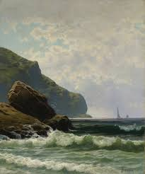 alfred thompson bricher seascape with boats offshore