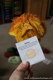 fun to make yarn solar system project
