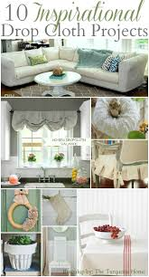 No Sew Slipcover For Sofa by 10 Inspirational Drop Cloth Projects The Turquoise Home