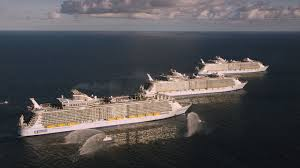 royal caribbean harmony of the seas new harmony of the seas welcomed by her sister ships royal